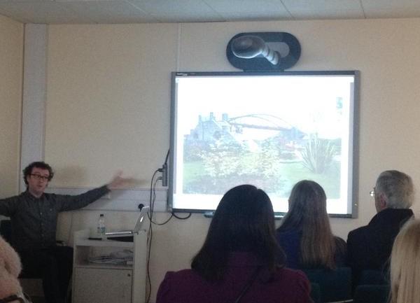 Public talk at Swansea Library (photo: twitter.com)